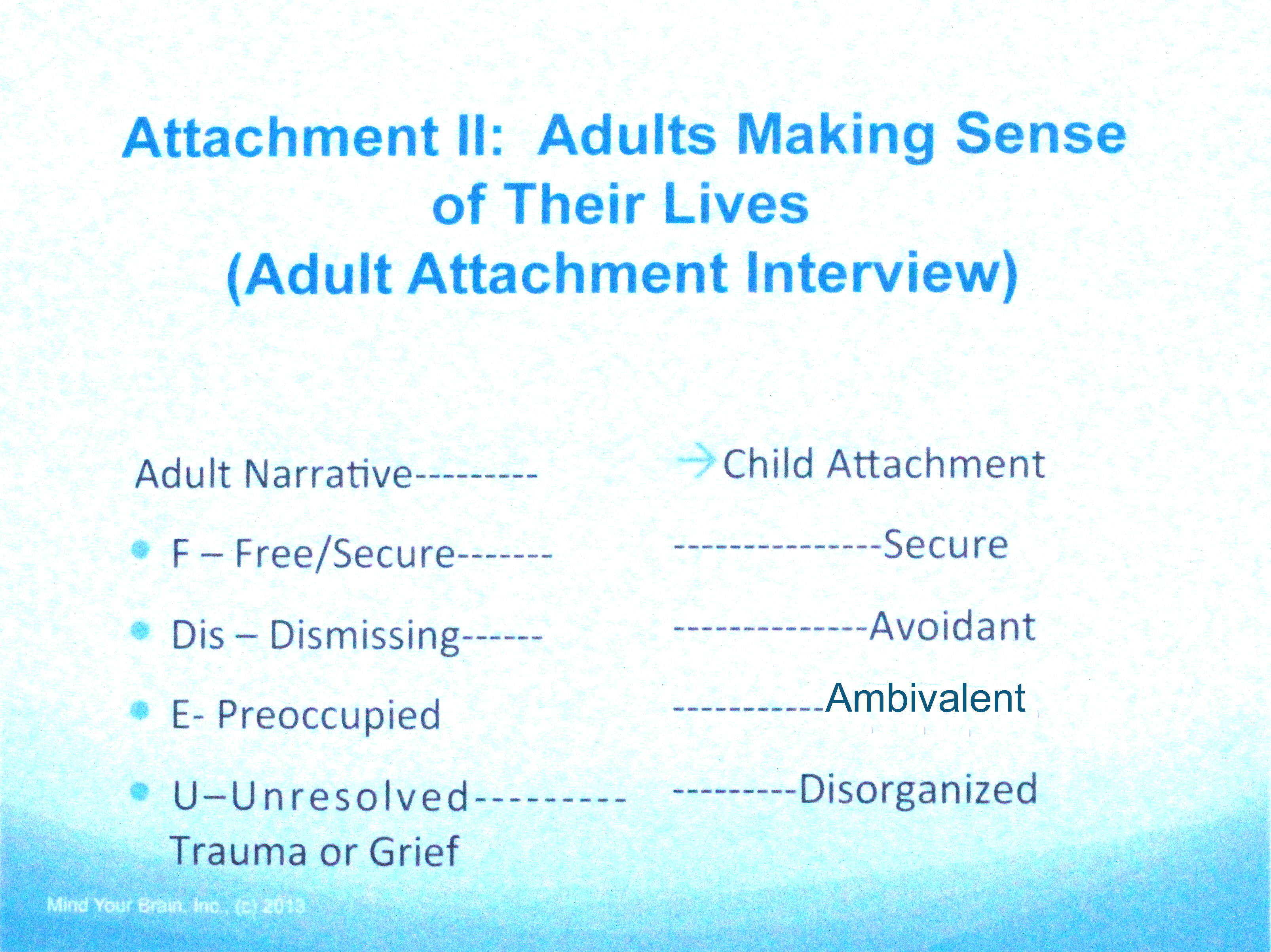 The Human Attachment System | pathways of mine/d